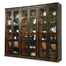 hooker furniture sanctuary two door thin display cabinet ebony