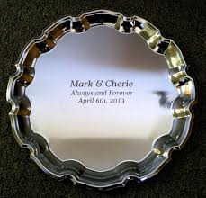 engraved silver platter personalized silver trays and platters from images inc