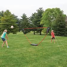 the instant family volleyball set hammacher schlemmer
