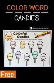 colorful candies color words activity the kindergarten connection