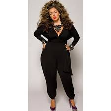 plus jumpsuit plus size jumpsuit with tie belt black monif c
