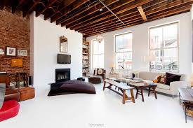 Loft Living Room by Furnished Noho Rental Outfitted By Renowned Designer Asks 14 000