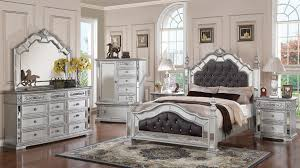 Mirror Bed Frame Mirrored Complete Bedroom Set