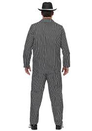 Mens Gangster Halloween Costume Men U0027s Wide Pin Stripe Gangster Costume