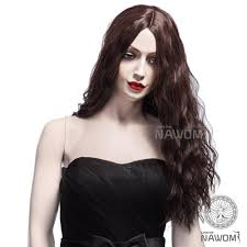 fluffy halloween costumes new fashion brown ladies wavy wigs fluffy halloween costume hairs