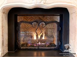 Arched Fireplace Doors by Mediterranean Fireplace Doors Dragon Forge Colorado Blacksmith