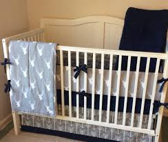 Deer Crib Sheets Crib Bedding Navy Blue Creative Ideas Of Baby Cribs