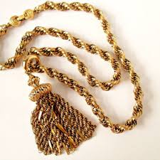 vintage long gold necklace images Best monet gold chain necklace products on wanelo jpg