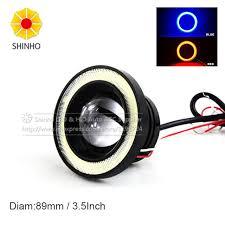 3 inch fog light kit 2pcs set universal 10w 3 5inch 89mm cob led fog light angel eye