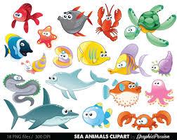 ocean animals underwater clipart clipartxtras