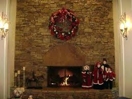 Garland With Lights Wreath Fireplace Fireplace Mantel Garland With Lights Sumoglove