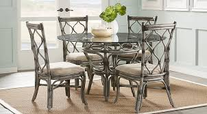 cindy crawford home shorecrest gray 48 in 5 pc round dining set