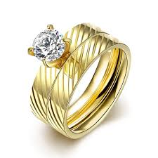 wedding ring in dubai erluer dubai gold color rings for women men gift fashion