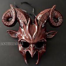 Goat Halloween Costume Black Ram Goat Animal Devil Halloween Costume Masquerade Party