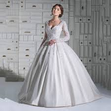 turmec long sleeve ball gown wedding dresses