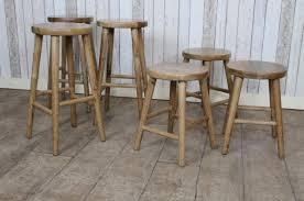 reclaimed oak stools kitchen or dining stools solid oak bar stools