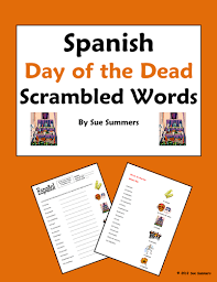 spanish day of the dead scrambled words and image ids by