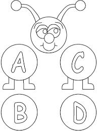 free printable abc coloring pages kids