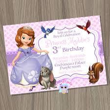 sofia the birthday princess sofia invitation sofia the invitation sofia