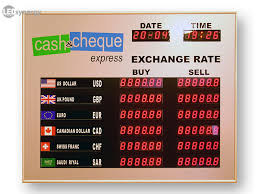 le bureau led exchange rate board led rate display signs exchange rate