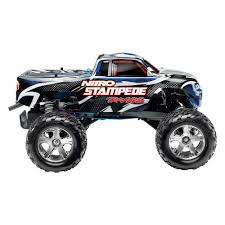 monster truck rc nitro traxxas 41094 1 blue nitro stampede 1 10 scale 2wd monster