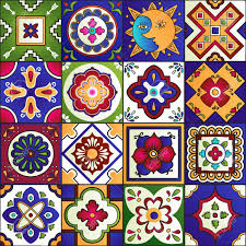 51405632 talavera set of 16 mexican tiles seamless pattern stock