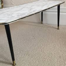 Vintage Coffee Tables by Large Marble Effect Vintage Coffee Table 1950s Table Basse