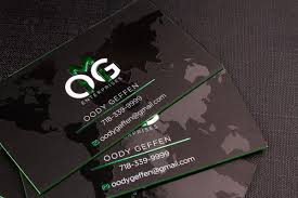 2 sided spot uv business cards luxury printing