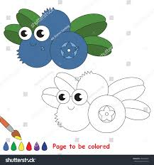 funny blueberry colored coloring book stock vector 452400262