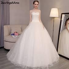 simple affordable wedding dresses darlingoddess robe de mariage 2017 wedding dress princess bling