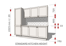 standard height of kitchen base cabinets standard dimensions for australian kitchens illustrated
