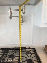Delta Pot Filler Faucet Builder Installed Pot Filler Way Too High What Should I Do