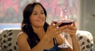 Cougar Town Memes - channeling jules cobb or just her giant wine glass and a