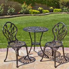 Cast Aluminum Patio Chair Best Choice Products Cast Aluminum Patio Bistro Furniture Set In