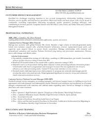 Sample Resume For Accounting Manager by Sample Resume Of Customer Service Manager Free Resume Example