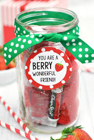 gift idea for a berry gift idea for friends or teachers squared