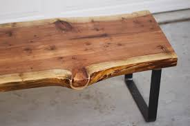 arbor exchange reclaimed wood furniture redwood slab coffee table