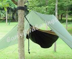 the blue stone hammock cover camping rainfly tarp with stuff sack