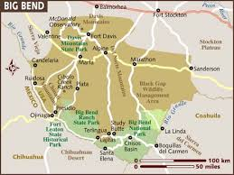 where is terlingua on a map map of big bend national park