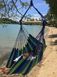 decorating rainbow color brazilian hammock for outdoor decoration
