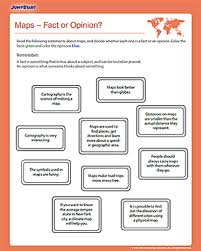 maps u2013 fact or opinion u2013 free geography worksheet for kids