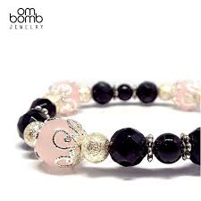 black jewelry bracelet images Gemstone jewelry bracelet black onyx x rose quartz ombomb jpg