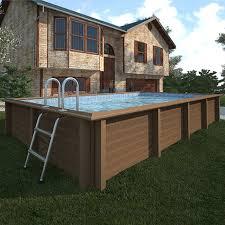 rivestimento in legno per piscine fuori terra piscina fuori terra in pietra ricostruita effetto legno naturalis