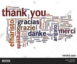 thanksgiving words vector concept or conceptual abstract thank you word cloud in