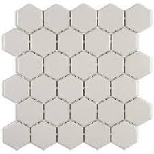 light grey hexagon tile beltile athens light grey hexagon 2 inch mosaic glossy 2 inch