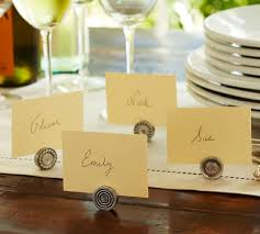 place card holders antique bar place card holder set of 4 pottery barn