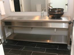 Stainless Steel Bathroom Vanity Cabinet Amazing Maxi Stainless Steel Bathroom Cabinet On Metal