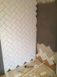 Installing Tile On Walls Best 25 Herringbone Subway Tile Ideas On Pinterest Subway Tile