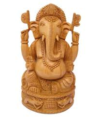 craftsgallery wooden ganesha fine sculpture home decor carved