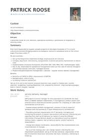 model of resume captivating service delivery manager sample resume 35 on sample of
